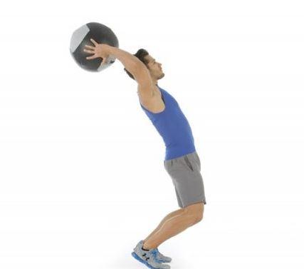 Mejorar el lanzamiento de balón medicinal, ejercicios específicos.
