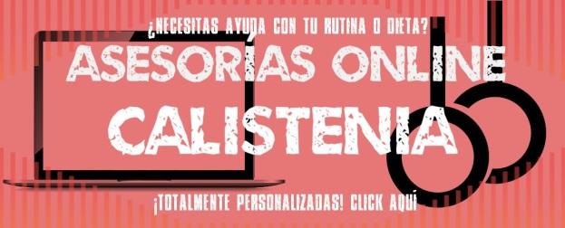 Asesorías online de calistenia y mi web