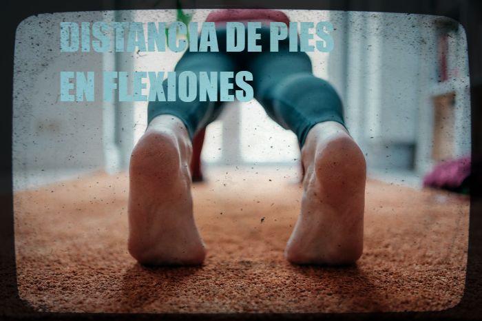 Distancia de piernas en flexiones y planchas diferencias