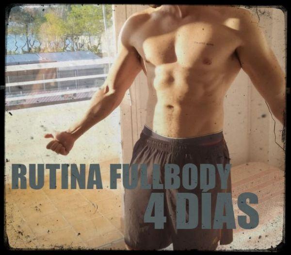 Rutina de 4 días de cuerpo completo para ganar masa muscular